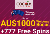 Cocoa Casino Australia website