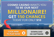 Cosmo Casino sign-up bonus