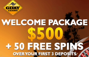 Gday Casino New Zealand sign-up bonuses
