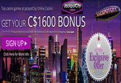 Jackpot City Casino Canada website