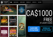 Luxury Casino Canada website