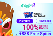 Paradise 8 Casino New Zealand website