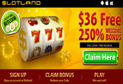 Slotland Casino exclusive free bonus