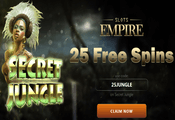 Slots Empire Casino exclusive free spins