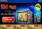 Win A Day Casino exclusive bonuses